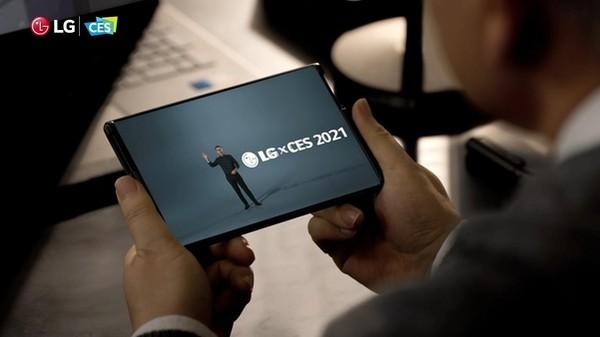 LG전자가 개발 중인 'LG 롤러블'. 애석하게도 이 제품이 상용화될 지는 불투명하다.